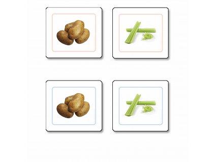 Přikládací karty pro nejmenší: Zelenina