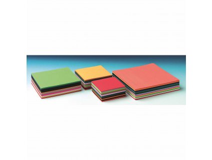 Craft paper 60 g 10 x 10 cm 480 sheets 12 colours assorted