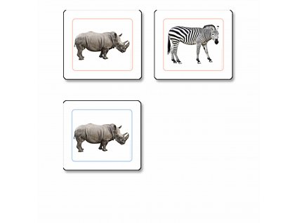 Přikládací karty pro nejmenší: Zvířata Afriky
