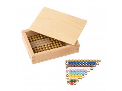 Krabička s perlami k Seguinově tabulce I. – umělé korálky samostatné