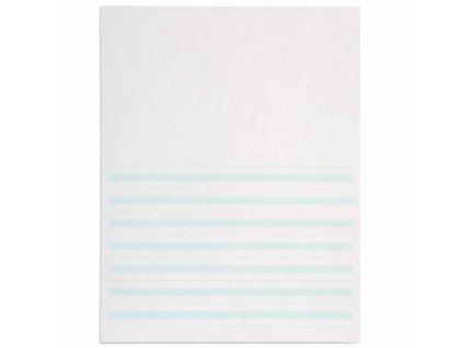 Psací papír, zeleně linkovaný 8,5x11