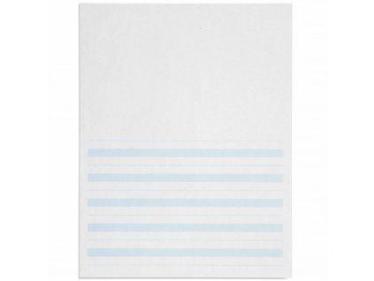 Psací papír, modře linkovaný 8,5x11