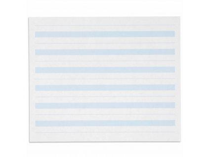 Psací papír, modře linkovaný 7x8,5