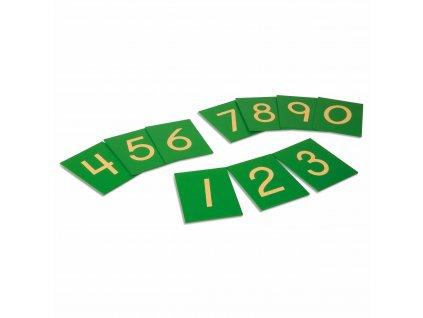 Hmatové číslice 0-9 – tiskací písmo, USA styl