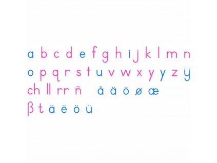 Dřevěná pohyblivá abeceda: tiskací