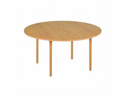Kulatý stůl - C3 žlutý (115X59 cm)