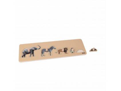 Puzzle pro nejmenší: 5 divokých zvířat