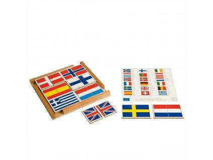 Puzzle – vlajky Evropy