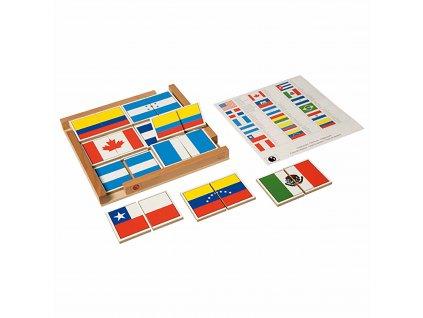 Puzzle Vlajky států Severní a Jižní Ameriky