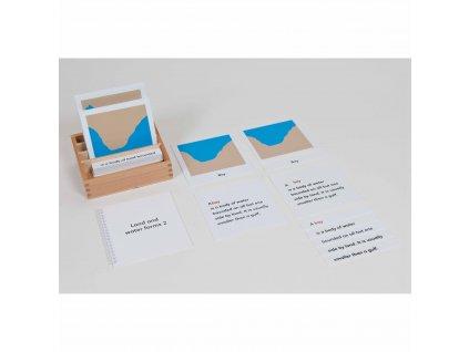 Přiřazovací karty k různým tvarům pevniny a vodních ploch – sada 2