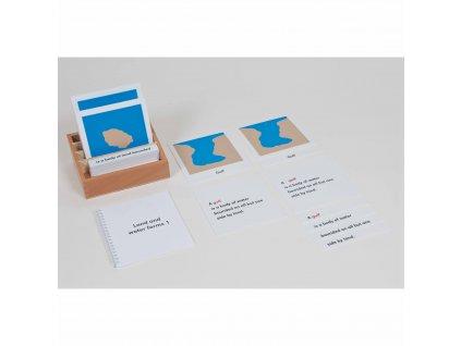Přiřazovací karty k různým tvarům pevniny a vodních ploch – sada 1