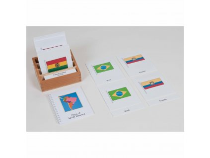 Karty s vlajkami Jižní Ameriky