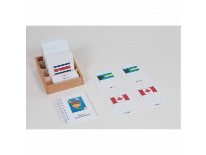 Karty s vlajkami Severní Ameriky