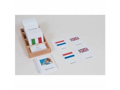 Karty s vlajkami Evropy