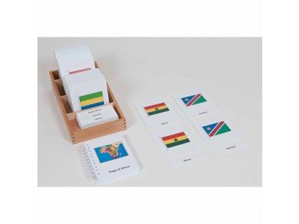 Karty s vlajkami Afriky