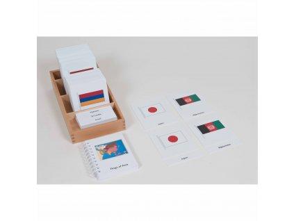 Karty s vlajkami Asie