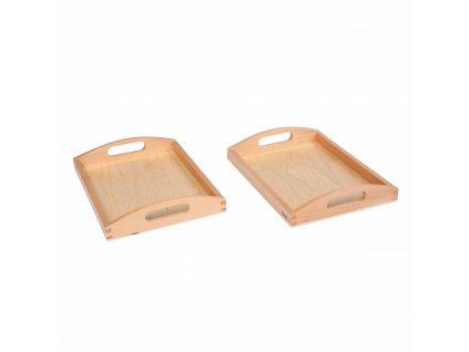 Dřevěný podnos malý, 2 ks