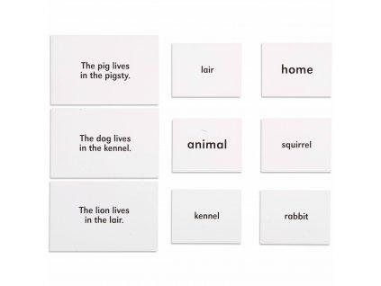 Zvířata a jejich domov, anglicky