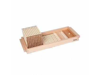 Úvodní podnos ke zlatému perlovému materiálu – skleněné perličky volné