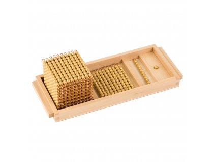 Úvodní podnos ke zlatému perlovému materiálu – umělé perličky volné