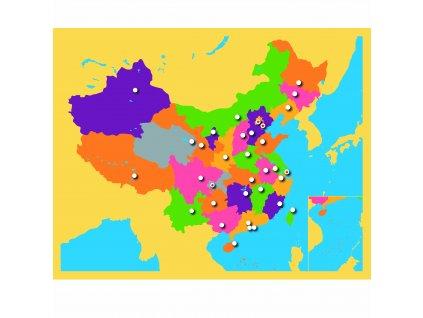Puzzle – mapa Číny