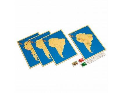 4 mapy Jižní Ameriky