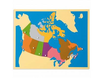 Puzzle – mapa Kanady