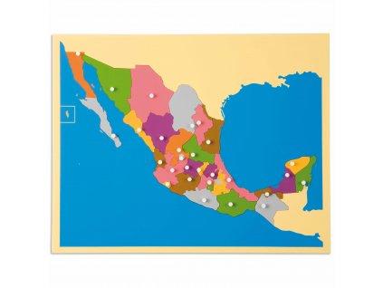 Puzzle – mapa Mexika