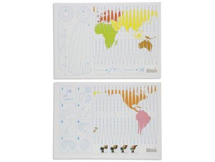 Pracovní list Vztah globus – mapa, 10 ks