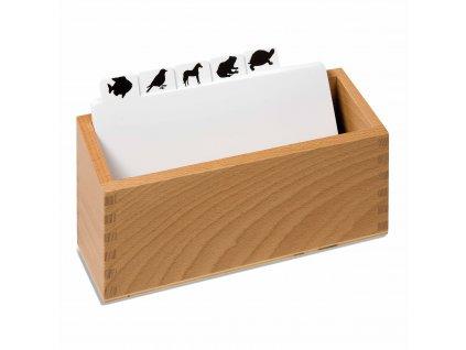 Krabička na okopírované předlohy k puzzle živočichů
