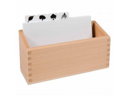 Krabička na okopírované předlohy k Botanickým puzzle