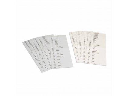 Popisky pro třetí sadu botanických karet