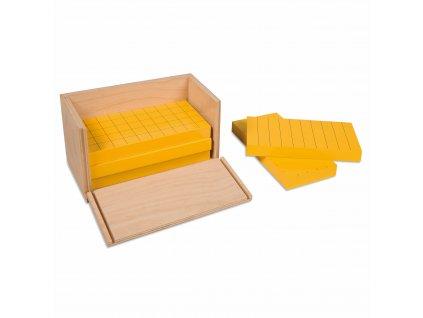 Sada 5 žlutých hranolů, v krabičce