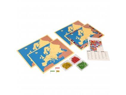 4 mapy Evropy