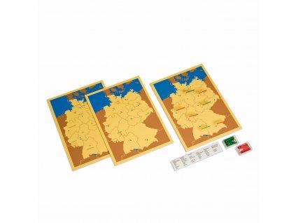 3 mapy Německa