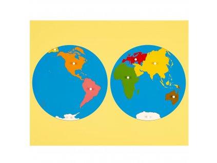 Puzzle – světadíly