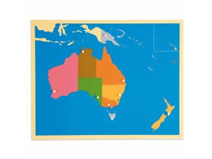 Puzzle – mapa Austrálie