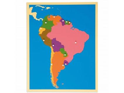 Puzzle – mapa Jižní Ameriky