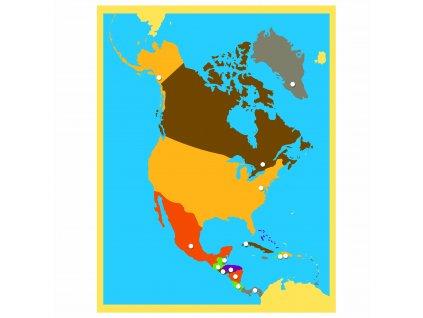 Puzzle – mapa Severní Ameriky
