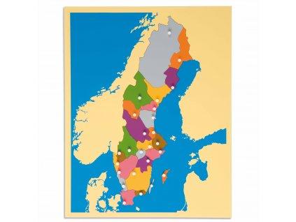 Puzzle – mapa Švédska