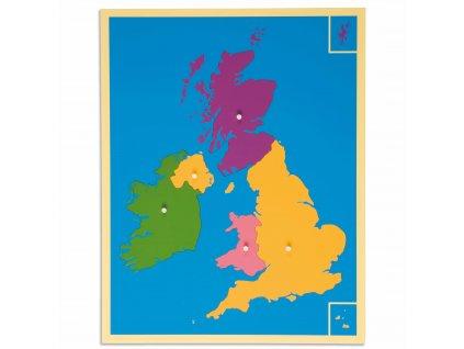 Puzzle – mapa Velké Británie