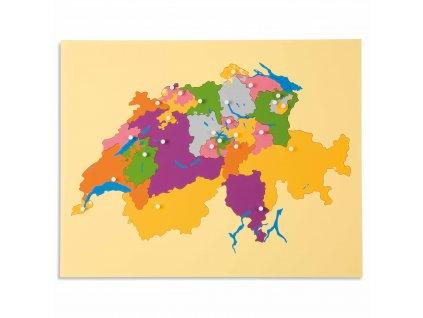 Puzzle – mapa Švýcarska