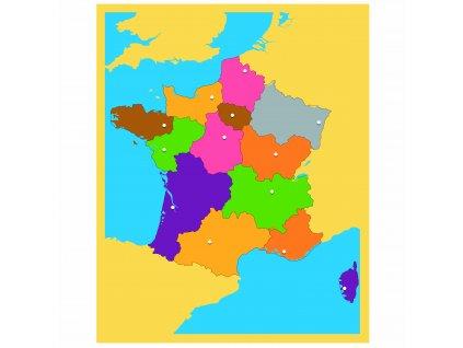 Puzzle – mapa Francie