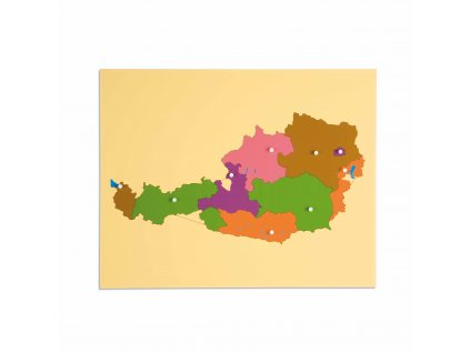 Puzzle – mapa Rakouska