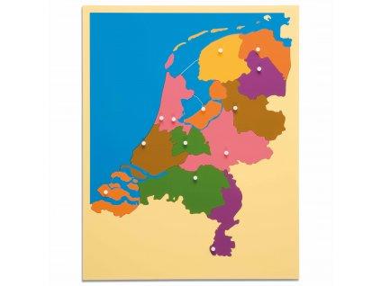 Puzzle – mapa Nizozemí