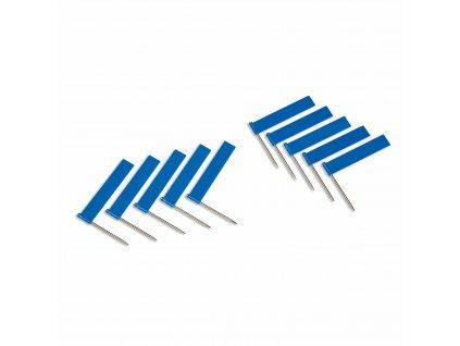 10 ks modrých vlajek (pro označování vodních ploch)