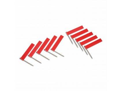 10 ks červených vlajek (pro označování měst)