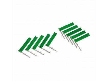 10 ks zelených vlajek (pro označování států)