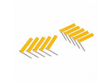10 ks žlutých vlajek (pro označování pohoří)
