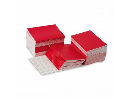 Sešitky na psaní, červené, malé, 100 ks